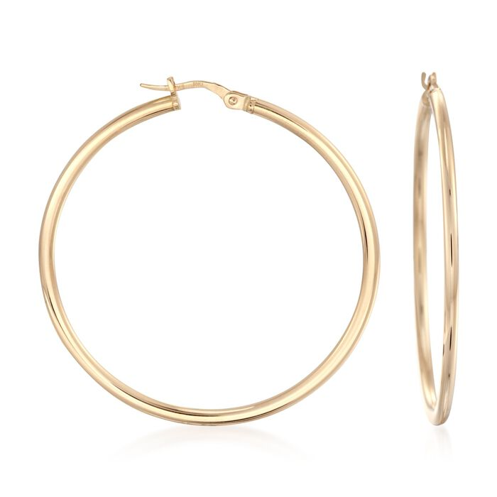 Roberto Coin Prominent Hoops in 18-Karat Yellow Gold, , default