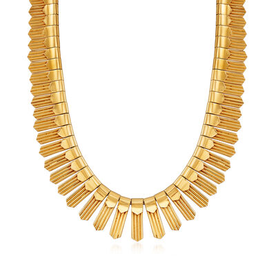 C. 1980 Vintage 18kt Yellow Gold Cleopatra- Style Necklace, , default
