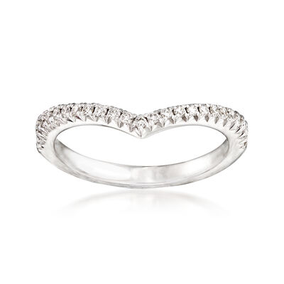Henri Daussi .18 ct. t.w. Diamond Wedding Ring in 18kt White Gold, , default