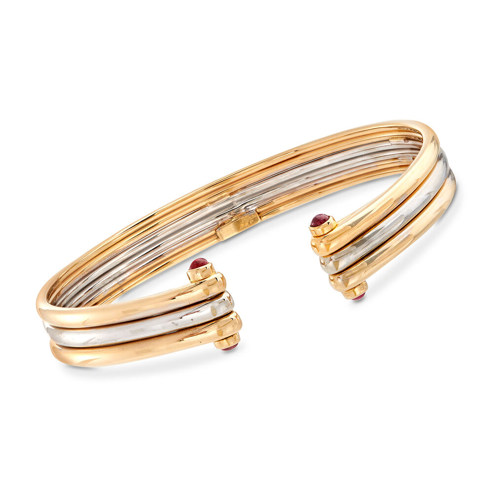 plus récent 25fcf 95671 C. 1980 Vintage Van Cleef .60 ct. t.w. Ruby Bracelet in 18kt Two-Tone Gold.  7.5