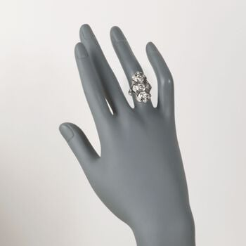 C. 1990 Vintage 1.30 ct. t.w. Diamond Dinner Ring in Platinum. Size 5.75, , default