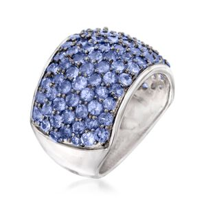 4.30 ct. t.w. Tanzanite Dome Ring in Sterling Silver #844676