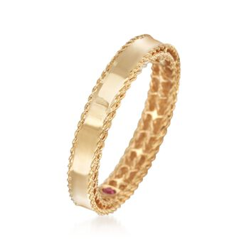 Roberto Coin Symphony Princess 18-Karat Yellow Gold Band. Size 7, , default