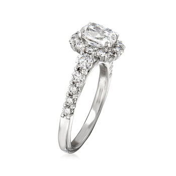 Henri Daussi 2.35 ct. t.w. Diamond Engagement Ring in 18kt White Gold