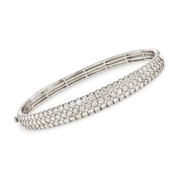 Simon G. 5.42 ct. t.w. Diamond Bangle Bracelet in 18kt White Gold, , default