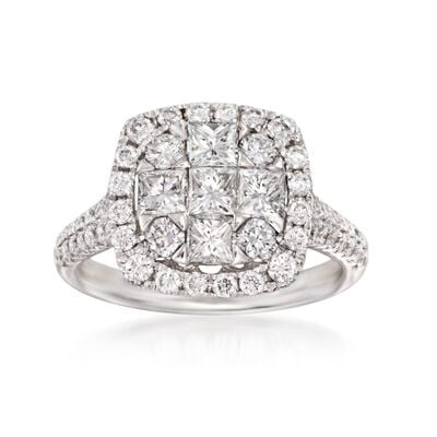 Gregg Ruth 1.85 ct. t.w. Diamond Ring in 18kt White Gold, , default