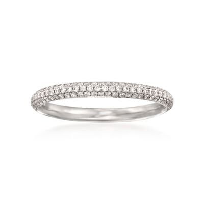 Simon G. .43 ct. t.w. Diamond Wedding Ring in 18kt White Gold, , default