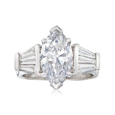 Majestic Collection 3.93 ct. t.w. Diamond Ring in 18kt White Gold, , default