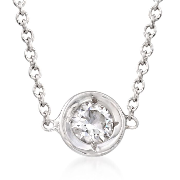 Roberto Coin .10 Carat Diamond Necklace in 18kt White Gold