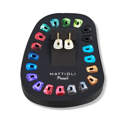 """Mattioli """"Puzzle"""" 18kt Yellow Gold Earrings With Eleven Interchangeable Drops , , default"""