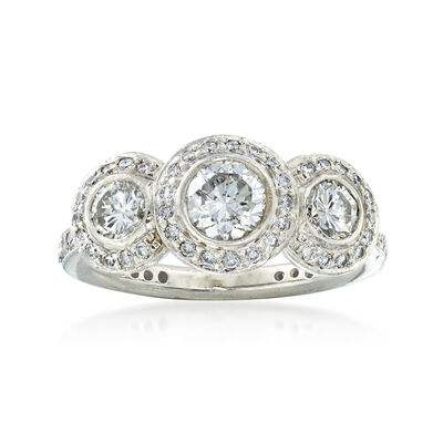 C. 2000 Vintage Ritani 1.30 ct. t.w. Diamond Ring in Platinum