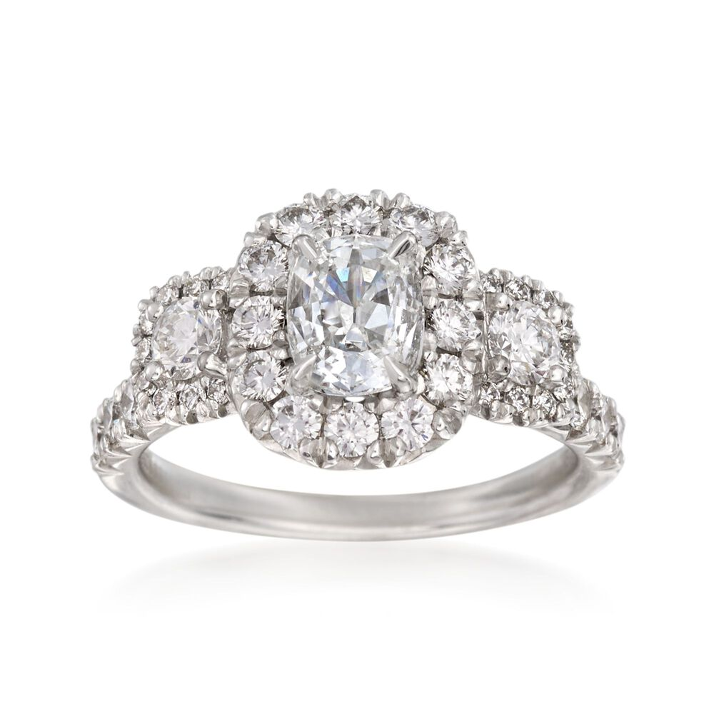 5bb45a386 Henri Daussi 1.87 ct. t.w. Certified Diamond Ring in 18kt White Gold ...
