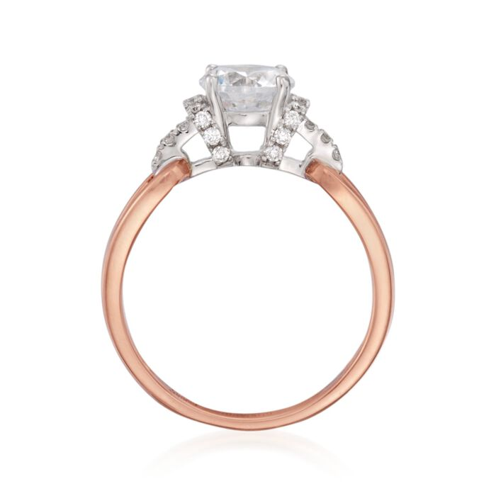 Simon G. .18 ct. t.w. Diamond Engagement Ring Setting in 18kt Two-Tone Gold