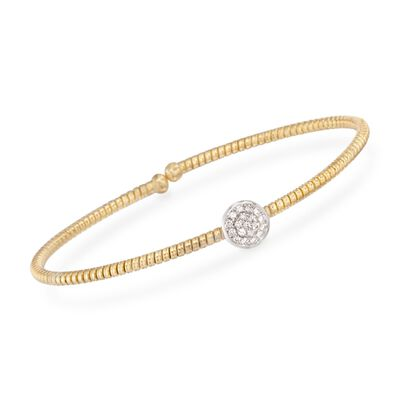 Simon G. .15 ct. t.w. Diamond Circle Bracelet in 18kt Yellow Gold, , default