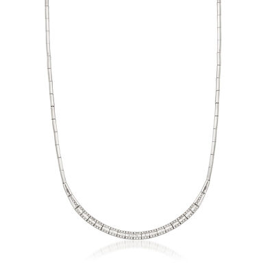 C. 1990 Vintage 1.10 Diamond 18kt White Gold Necklace