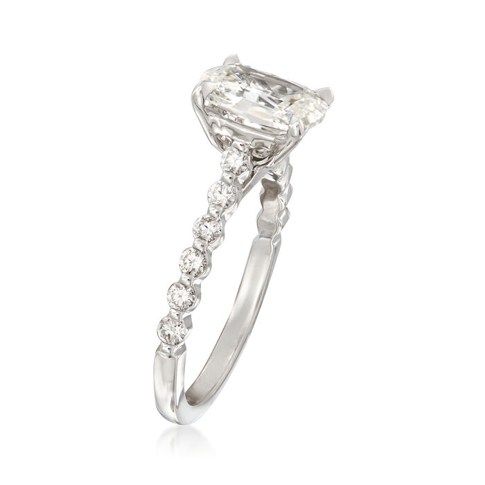 Henri Daussi 1.90 ct. t.w. Certified Diamond Engagement Ring in 18kt White Gold