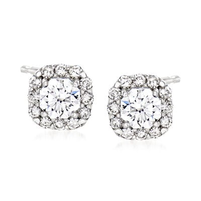 C. 2000 Vintage .64 ct. t.w. Diamond Stud Earrings in Platinum