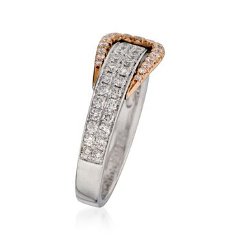 Simon G. .60 ct. t.w. Diamond Buckle Ring in 18kt Two-Tone Gold, , default