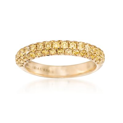 Henri Daussi 1.00 ct. t.w. Fancy Yellow Diamond Wedding Ring in 14kt Yellow Gold, , default