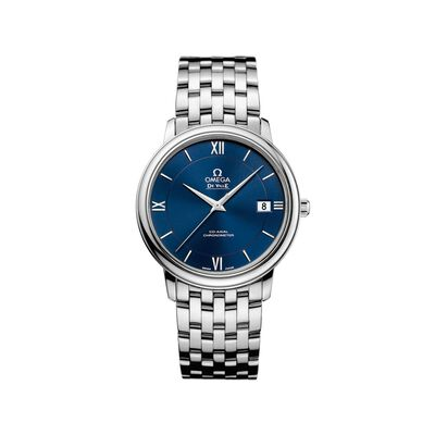 Omega De Ville Prestige Men's 36.8mm Stainless Steel Watch with Blue Dial, , default