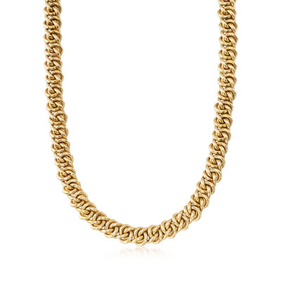 C. 1980 Vintage 18kt Yellow Gold Twisted-Link Necklace
