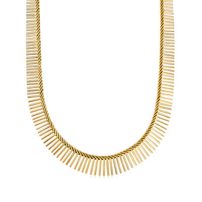 C. 1980 Vintage 14kt Two-Tone Gold Cleopatra Necklace
