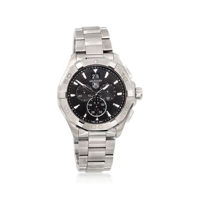 TAG Heuer Aquaracer Men's 43mm Chronograph Stainless Steel Watch - Black Dial