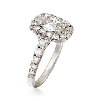 Henri Daussi 2.18 ct. t.w. Certified Diamond Engagement Ring in 18kt White Gold, , default