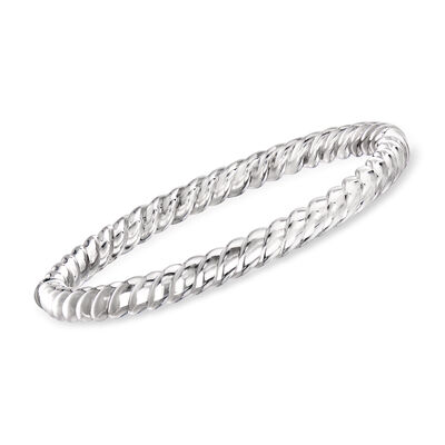 "Phillip Gavriel ""Italian Cable"" Twisted Bangle Bracelet in Sterling Silver, , default"