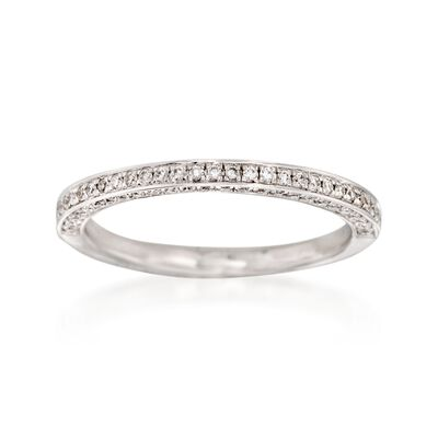 Henri Daussi .33 ct. t.w. Diamond Wedding Ring in 14kt White Gold
