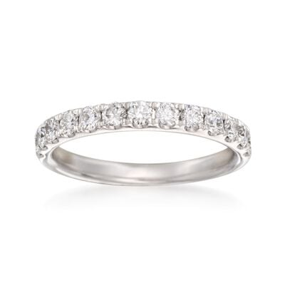 Henri Daussi .67 ct. t.w. Diamond Wedding Ring in 14kt White Gold, , default