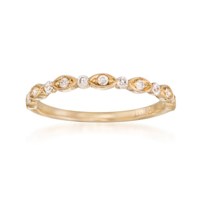 Henri Daussi .20 ct. t.w. Diamond Wedding Ring in 18kt Yellow Gold, , default