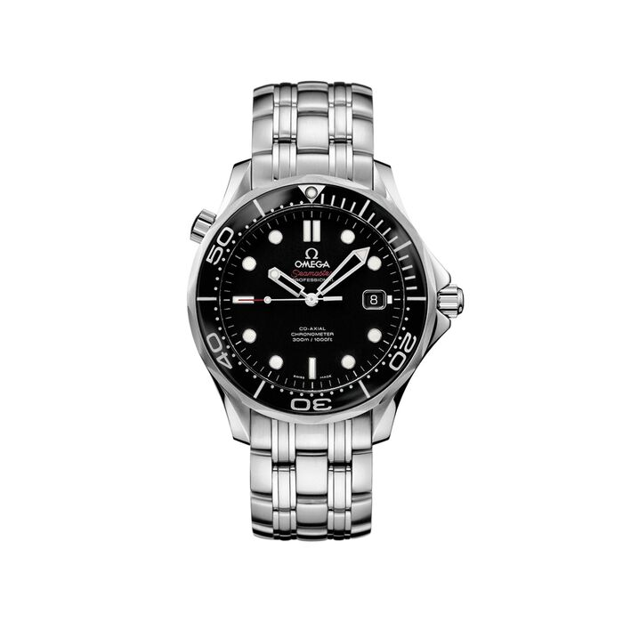 Omega Seamaster Diver 41mm Men's Automatic Stainless Steel Watch - Black Dial, , default