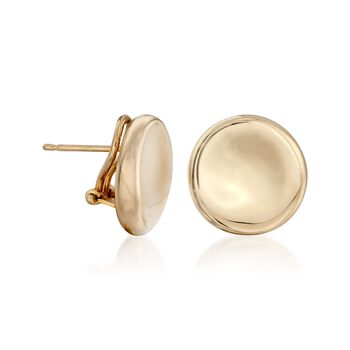 Roberto Coin Large Button Earrings in 18-Karat Yellow Gold, , default