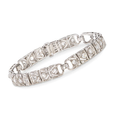C. 1970 Vintage 3.25 ct. t.w. Diamond Bracelet in Platinum, , default
