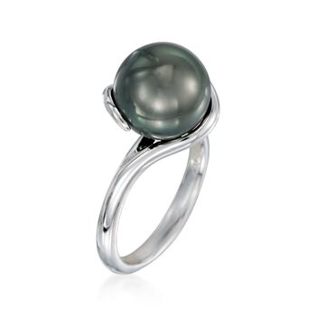 Mikimoto 11mm Black South Sea Pearl Twisted Ring in 18kt White Gold, , default