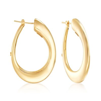 "Roberto Coin ""Oro Classic"" 18kt Yellow Gold Small Hoop Earrings, , default"