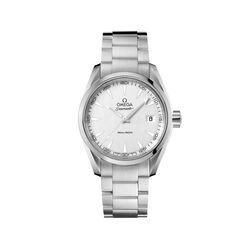 Omega Seamaster Aqua Terra Men's 38.5mm Stainless Steel Watch With Silver Dial, , default