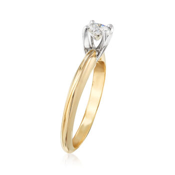 .40 Carat Diamond Solitaire Engagement Ring in 14kt Yellow Gold