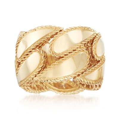 "Roberto Coin ""Gourmette"" 18kt Yellow Gold Ring"