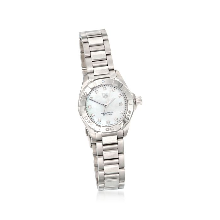 Tag Heur Aquaracer 27mm Women's Diamond Watch in Stainless Steel, , default
