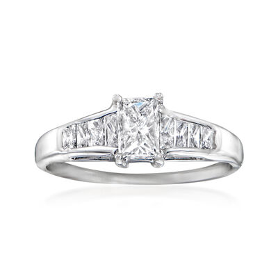 C. 1980 Vintage 1.02 ct. t.w. Diamond Ring in 14kt White Gold