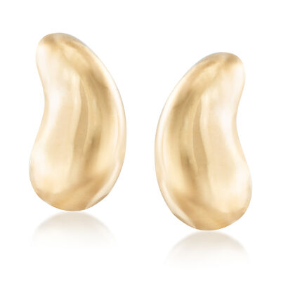 "C. 1990 Vintage Tiffany Jewelry ""Elsa Peretti"" 18kt Yellow Gold Bean Clip-On Earrings, , default"