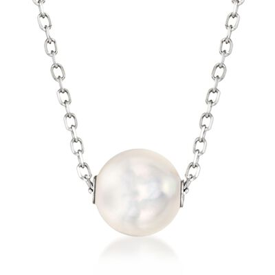 Mikimoto 8mm A+ Akoya Pearl Necklace in 18kt White Gold, , default