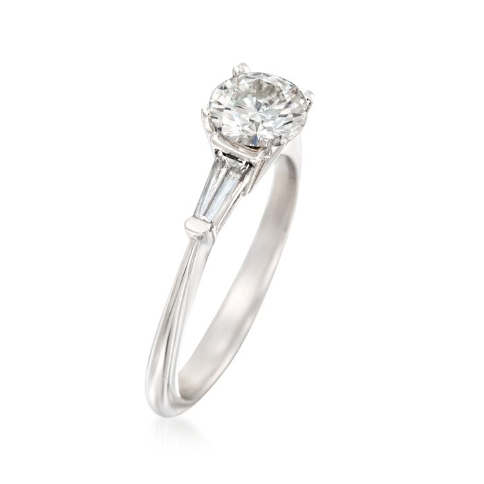 1.37 ct. t.w. Certified Diamond Engagement Ring in 14kt White Gold