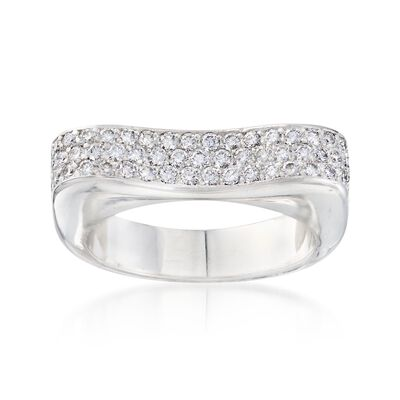 C. 1990 Vintage 1.05 ct. t.w. Pave Diamond Ring in 18kt White Gold