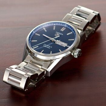 TAG Heuer Carrera Men's Automatic Stainless Steel Watch with Blue Dial