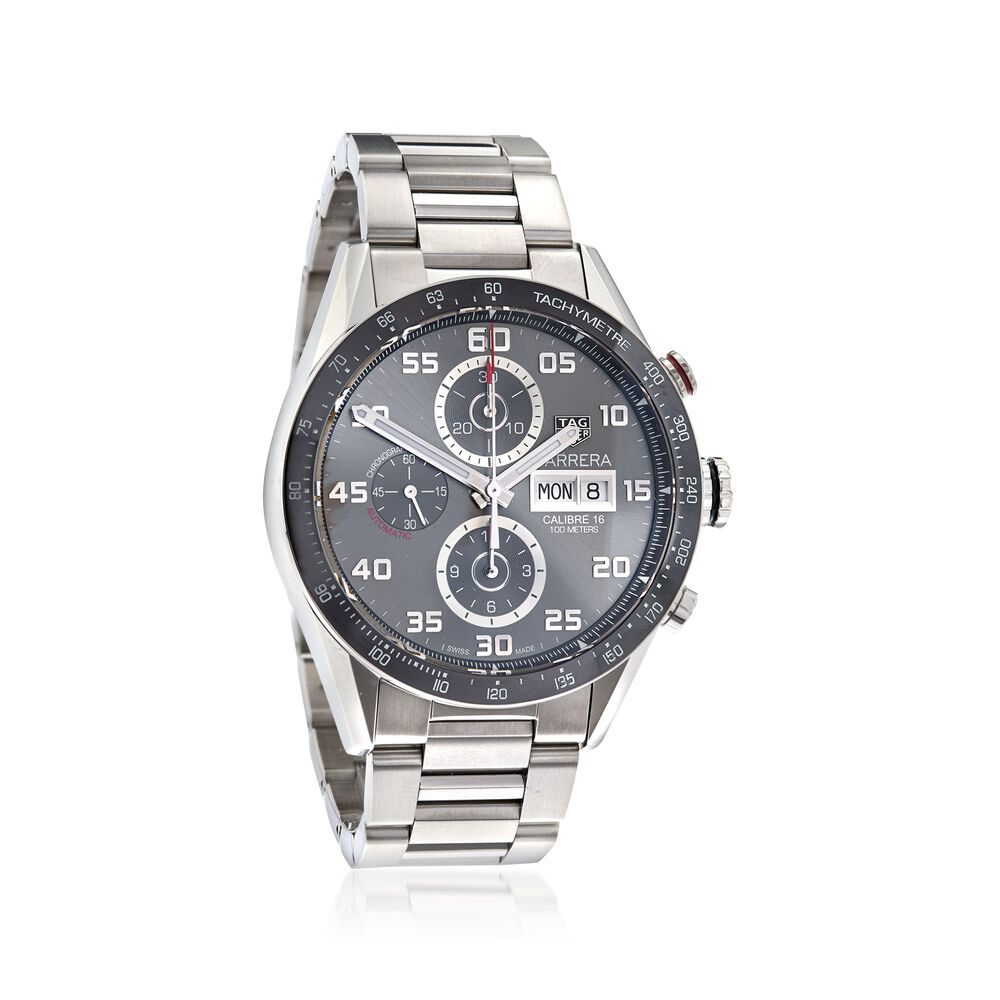 2a2fd7ca658c8 TAG Heuer Carrera 43mm Men s Auto Chronograph Stainless Steel Watch ...