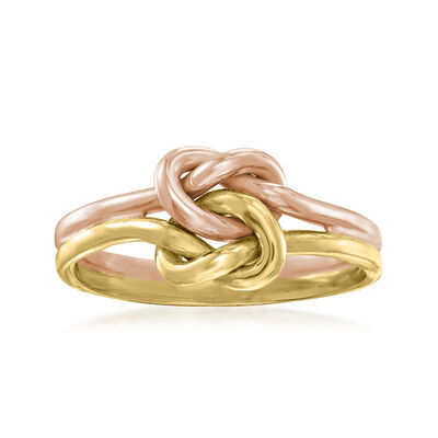 C. 1980 Vintage 10kt Two-Tone Gold Love Knot Ring