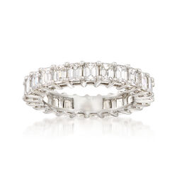 3.00 ct. t.w. Emerald-Cut Diamond Eternity Band in Platinum, , default